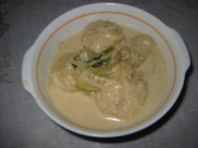 豆腐団子のミルク味噌煮