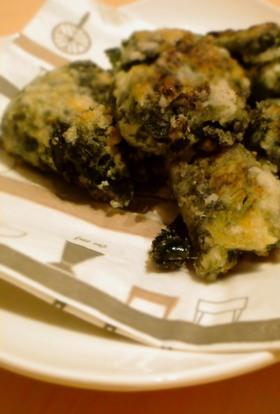桜海老とワカメ・青海苔の豆腐焼き