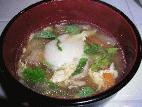 鏡餅でトックスープ(韓国風お雑煮)