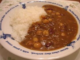お豆とひき肉の簡単カレー