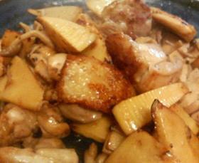 竹の子&鶏肉のバターしょう油炒め♪