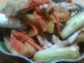 豚とポテトの味噌炒め