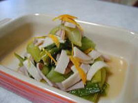 チンゲンサイとハムの柚子サラダ