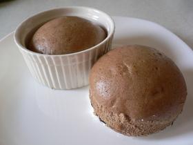 朝食に!卵白ミルクココア蒸しパン