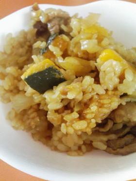 かぼちゃの炊き込みご飯~カレー風味~