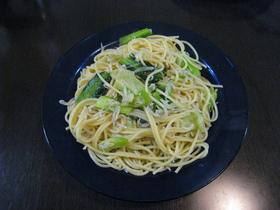 ちりめんじゃこと小松菜のペペロンチーノ☆