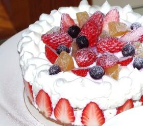 レンジでスポンジケーキ