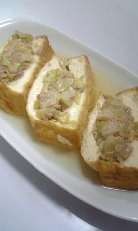 餃子のたねで✿厚揚げの✿はさみ煮