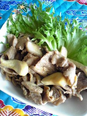 <豚薄切り肉の甘酢煮>