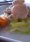 春の彩りバンバンジー風サラダ