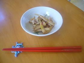 笹竹(姫竹)と豚肉の炒り煮