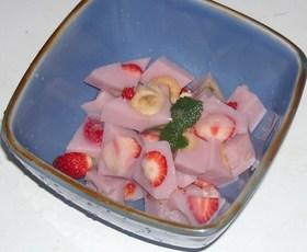 苺&バナナ入りミルミクス苺&牛乳寒