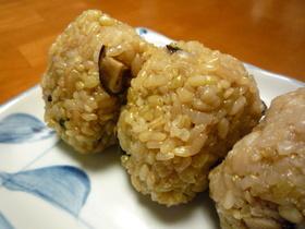 ○豚バラと干ししいたけの炊き込みご飯