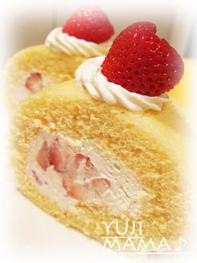 ふわふわトロける美味しさ★苺ロールケーキ