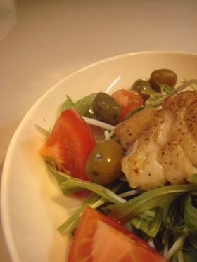 鱈と青菜のごちそうサラダ