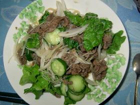 ノンオイル☆タイ風牛肉のナンプラーサラダ