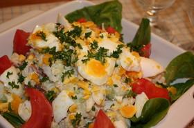 タマゴいっぱいウインナーポテトサラダ