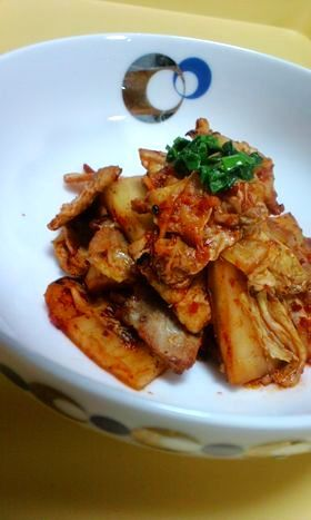 ◆定食屋さんの簡単版豚キムチ♪冷凍OK
