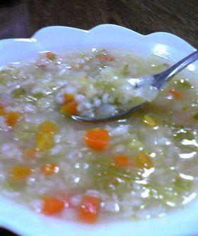 押し麦の野菜スープ