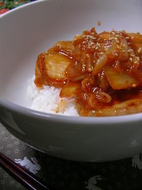 【男の料理】オレの豚キムチ丼