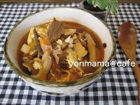 四葉亭♪ダシダで本格的辛い韓国スープ