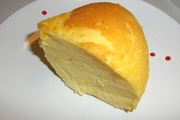 炊飯器とスライスチーズでチーズケーキの写真