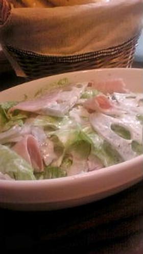 れんこんとハムのサラダ