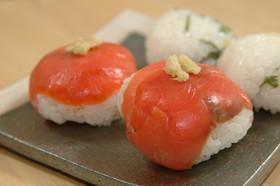 スモークサーモンのてまり寿司
