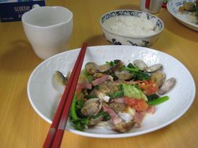 鯛のエチュベ、菜の花添え