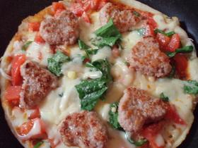 簡単フライパンHeart Pizza