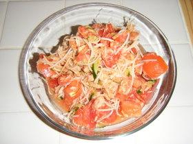 完熟トマトのさっぱりサラダ☆・・