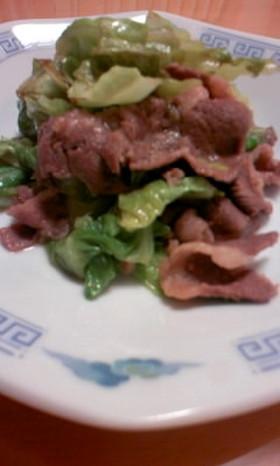 キャベツと牛肉のうまみ炒め