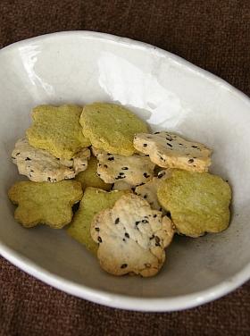卵不使用:抹茶クッキー&胡麻クッキー