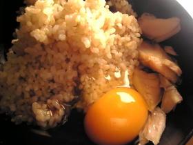 塩鮭の卵かけご飯