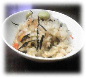 簡単★枝豆とひじきの炊き込みご飯