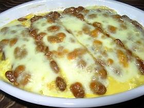 熱々ふわふわ♪豆腐&卵の納豆グラタン