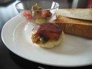 ヘルシー♪ 枝豆の豆腐ハンバーグの写真