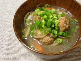 汁物~鶏団子の中華スープ