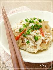 クック膳★豚挽き肉と蓮根の混ぜご飯の写真