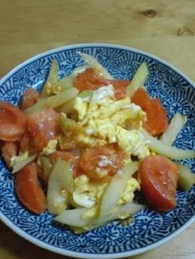 トマトとセロリの卵炒め  ~洋風~