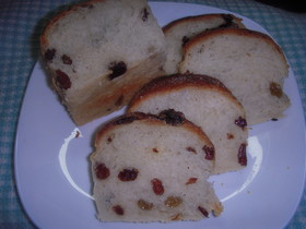 炊飯器で発酵パン(レーズン)