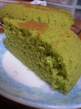 炊飯器とHMでカステラ風 抹茶ケーキ☆