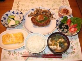 高野豆腐でヘルシーハンバーグ