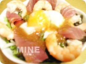 ♥海老とマグロのサラダ丼♥
