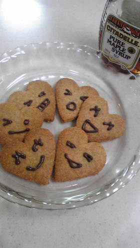 メープル♡全粒粉クッキー