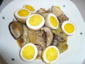豚肉とゆで卵のこっくり煮