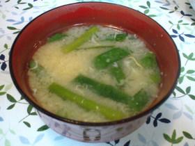 母の味!ニラたま味噌汁☆