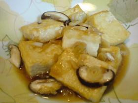 外がパリッ!な豆腐のめんつゆ煮