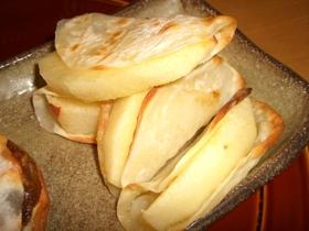 餃子の皮でアップルパイ風おつまみ