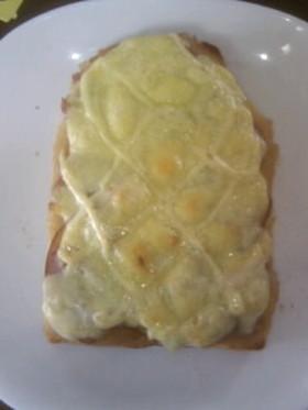 朝食♪おつまみ♪りんごハムチーズトースト